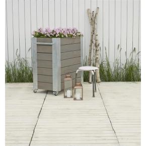 Plus Cubic Blomsterkasse 87x50x95 cm, Gråbrun