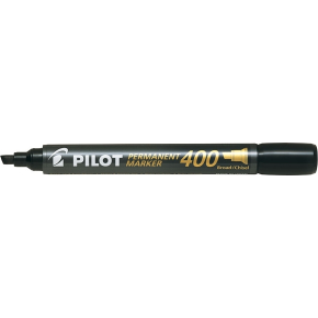 Pilot 400 permanent marker, sort
