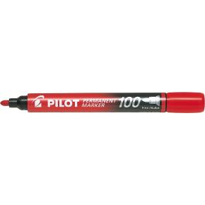Pilot 100 permanent marker, rød
