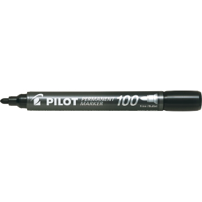 Pilot 100 permanent marker, sort