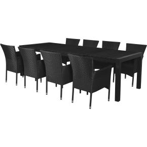 Parma havemøbelsæt, 8 pers. m/udtræk, luksusstole