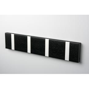 KNAX 4 knagerække, vandret, sortbejdset eg/grå