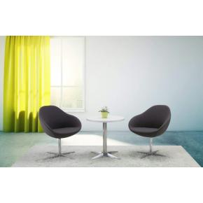 Guest loungestol, grå, stjernefod, aluminium