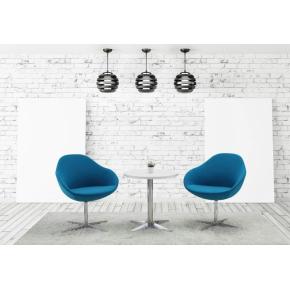 Guest loungestol, petroleumsblå, aluminium