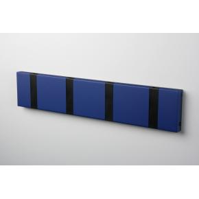 KNAX 4 knagerække, vandret, blå/sort
