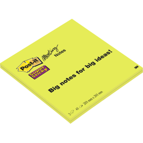 Post-it Super Sticky Notes, 200 x 200 mm
