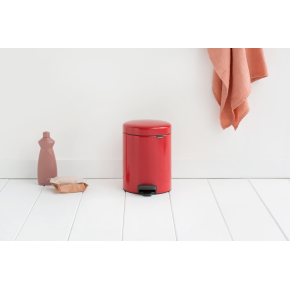 Brabantia Pedalspand, 5 L, passion red