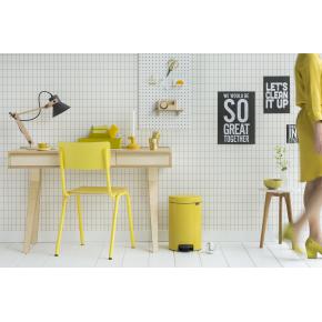 Brabantia Pedalspand, 12 L, daisy yellow