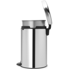 Brabantia Pedalspand, 20L, metal, brilliant steel