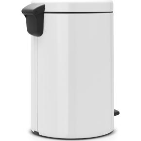 Brabantia Pedalspand, 20 L, metal, white