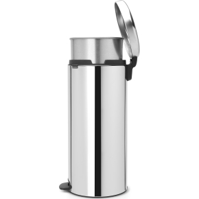 Brabantia Pedalspand, 30L, metal, brilliant steel