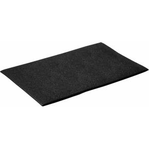 Hvilemåtte i lb.m. bredde 122 cm pris i cm., sort