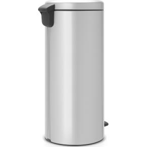 Brabantia Pedalspand, 30 L, metal, metallic grey