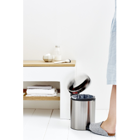 Brabantia Pedalspand, 5L, metal, brilliant steel