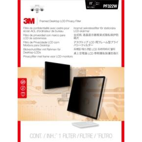 """3M PF322W9 Privacy Filter, indrammet til 20""""-23"""""""