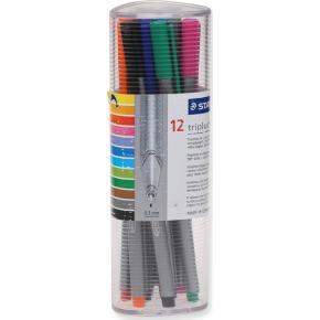 Staedtler Triplus fineliner etui med 12 farver