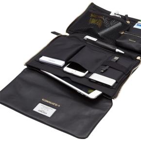 "Knomo Elektronista digital 10"" Clutch, sort læder"