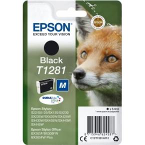 Epson nr.T1281/C13T12814012 blækpatron, sort, 170s