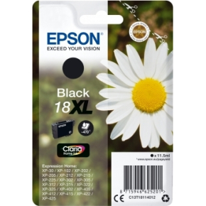 Epson 18XL blækpatron, sort, 470 s.
