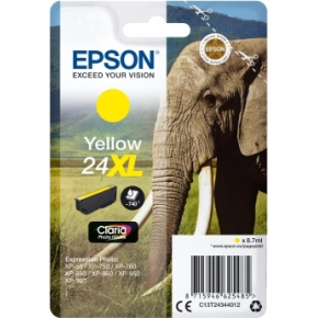 Epson Nr.24XL blækpatron, gul