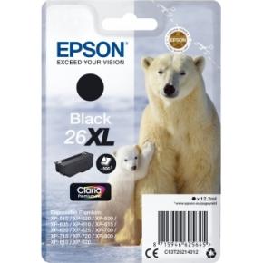 Epson T2621 XL blækpatron, 500s, sort