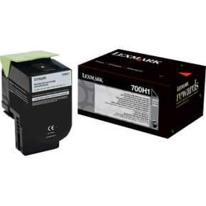 Lexmark 70C0H10 Lasertoner, sort, 4000s