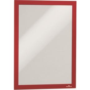 Durable DURAFRAME Security A4, rød/hvid, 2 stk.