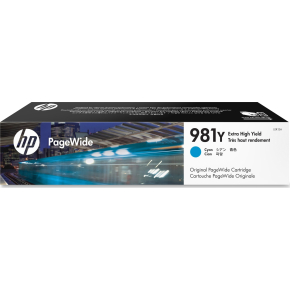 HP 981XXL/L0R13A, XL blækpatron, blå, 16000s