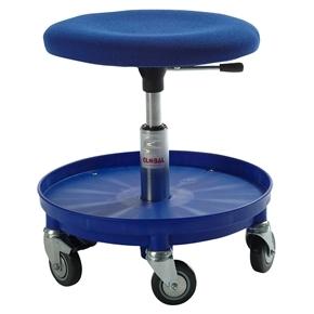 Beta sæde, blå, stof, slagfast nylonbase