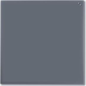 Glassboard magnetisk glastavle 100 x 100 cm, grå