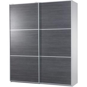 garderobeskab tilbud Garderobeskab m. skydedøre, Mørk struktur, B 180cm   køb til fast  garderobeskab tilbud