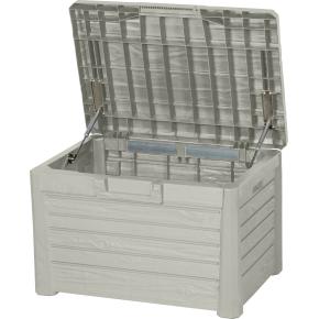 Oscar hyndeboks i lys grå polyrattan, 120 liter
