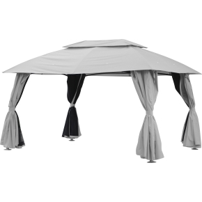 Pavillion Deluxe, 2,75x4 m, polyester/metal, taupe