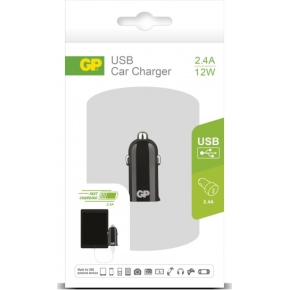 GP CC22 USB 2.0 Biloplader med 12W/2.4 A