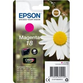 Epson 18/C13T18034022 rød blækpatron, m/alarm