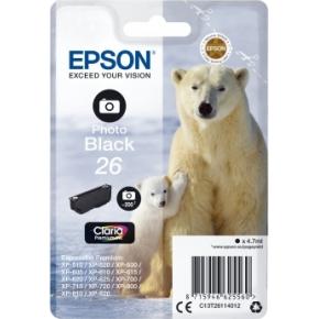 Epson nr.T2611/C13T26114022 blækpatron, foto sort
