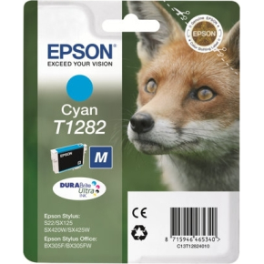 Epson 1282/C13T12824012 blå blækpatron, 175s alarm