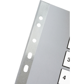Esselte register A4, 1-54, plast, grå