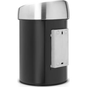 Brabantia Touch Bin 3 L t. væg, matt black