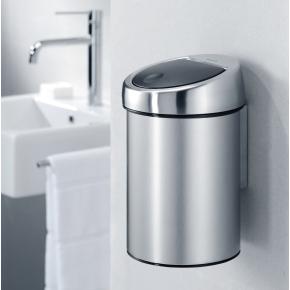 Brabantia Touch Bin 3 L t. væg, brilliant steel