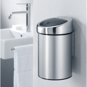 Brabantia Touch Bin 3 L t. væg, white