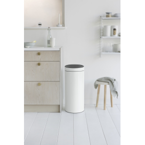 Brabantia Touch Bin 30 L, white