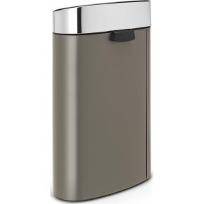 Brabantia Touch Bin 40 L, platinum/m. steel lid