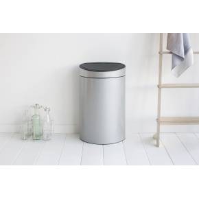 Brabantia Touch Bin 40 L, metallic grey