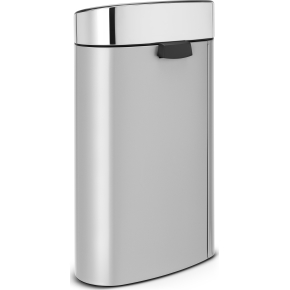 Brabantia Touch Bin 40 L, metallic grey/steel lid