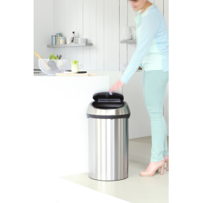 Brabantia Touch Bin 60L,brilliant steel/matt black