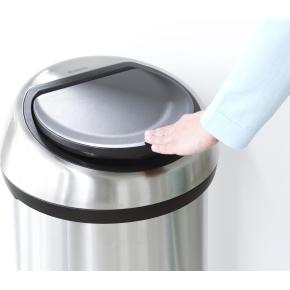 Brabantia Touch Bin 60 L, metallic grey