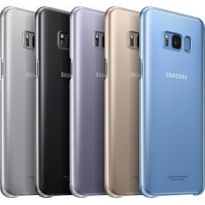 Samsung Galaxy S8+ bagcover, transparent sort