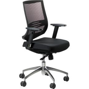 Trento kontorstol m/ netryg og sort sæde