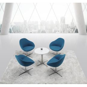 Guest loungesæt t/ 4 personer, Petroleumsblå